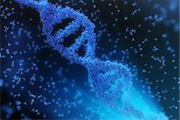Atoms forming a DNA chain Stock Photo - Premium Royalty-Freenull, Code: 6106-07029714