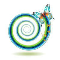 Butterfly moving outside of the spiral Stock Photo - Royalty-Freenull, Code: 400-07039531