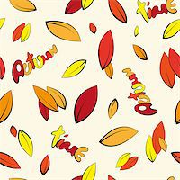 Seamless autumn yellowed leaves background Stock Photo - Royalty-Freenull, Code: 400-07049127