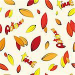 Seamless autumn yellowed leaves background Stock Photo - Royalty-Free, Artist: Krystycat, Code: 400-07049127