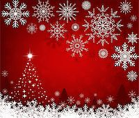 Christmas red background Stock Photo - Royalty-Freenull, Code: 400-07052819
