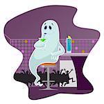 Ghost in the bar drinking cocktails Stock Photo - Royalty-Free, Artist: zaza2011, Code: 400-07053627