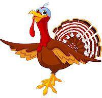 Illustration of a cartoon turkey Stock Photo - Royalty-Freenull, Code: 400-07056816