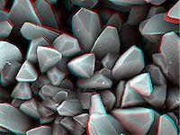 science & technology - 3D SEM image of crystal, 8 degree tilt Stock Photo - Premium Royalty-Freenull, Code: 649-07063295