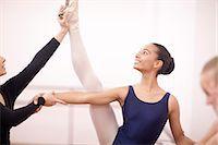 Portrait of teenage ballerina and teacher Stock Photo - Premium Royalty-Freenull, Code: 649-07063728