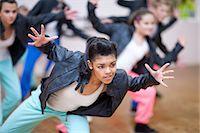 preteen dancing - Group of teenagers dancing in studio Stock Photo - Premium Royalty-Freenull, Code: 649-07063751