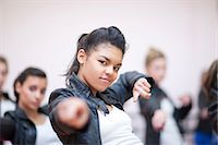 preteen dancing - Small group of teenagers dancing in studio Stock Photo - Premium Royalty-Freenull, Code: 649-07063752