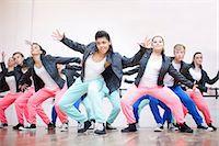 preteen dancing - Large group of teenagers dancing in studio Stock Photo - Premium Royalty-Freenull, Code: 649-07063753
