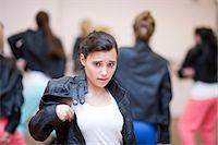 preteen dancing - Teenagers dancing hip hop in studio Stock Photo - Premium Royalty-Freenull, Code: 649-07063757