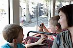 Mother and sons on double decker bus in London Stock Photo - Premium Royalty-Free, Artist: Westend61, Code: 649-07064447