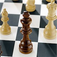 strategy - Close up of chess pieces on board Stock Photo - Premium Royalty-Freenull, Code: 649-07065086