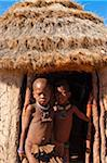 Portrait of Himba children, Kaokoveld, Namibia, Africa