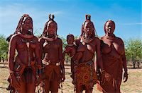 Portrait of Himba women, Kaokoveld, Namibia, Africa, Stock Photo - Premium Rights-Managednull, Code: 700-07067373