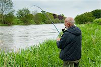 Mount Juliet Estate, Fishing in River Nore, Thomastown, County Kilkenny, Leinster, Republic of Ireland Stock Photo - Premium Royalty-Freenull, Code: 600-07067675