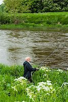 Mount Juliet Estate, Fishing in River Nore, Thomastown, County Kilkenny, Leinster, Republic of Ireland Stock Photo - Premium Royalty-Freenull, Code: 600-07067677