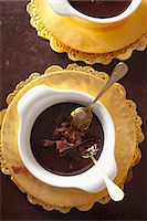 Dark chocolate mousse with chocolate curls Stock Photo - Premium Royalty-Freenull, Code: 659-07068849