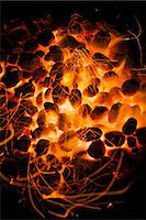Glowing barbecue coals Stock Photo - Premium Royalty-Freenull, Code: 659-07069540