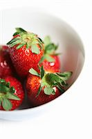 strawberries - Fresh strawberries in a bowl Stock Photo - Premium Royalty-Freenull, Code: 659-07069730