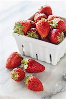 strawberries - Fresh strawberries in a porcelain basket Stock Photo - Premium Royalty-Freenull, Code: 659-07069859