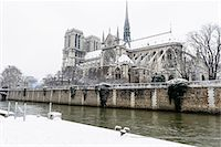 Paris in White - Notre Dame Stock Photo - Premium Royalty-Freenull, Code: 6106-07070570