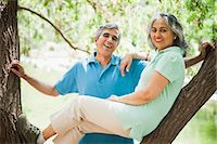 Portrait of a mature couple smiling, Lodi Gardens, New Delhi, India Stock Photo - Premium Royalty-Freenull, Code: 630-07071272