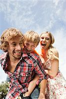 Happy family outdoors Stock Photo - Premium Royalty-Freenull, Code: 628-07072298