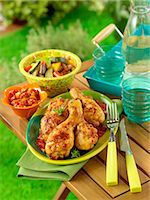 paprika - Grilled chicken with paprika Stock Photo - Premium Rights-Managednull, Code: 825-07076666