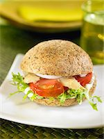 Tomato,lettuce and asparagus sandwich Stock Photo - Premium Rights-Managednull, Code: 825-07077673