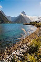 Mitre Peak, Milford Sound, Fiordland National Park, UNESCO World Heritage Site, South Island, New Zealand, Pacific Stock Photo - Premium Rights-Managednull, Code: 841-07080552