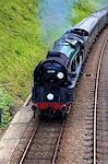 Steam train on Bluebell Railway, Horsted Keynes, West Sussex, England, United Kingdom, Europe Stock Photo - Premium Rights-Managed, Artist: Robert Harding Images, Code: 841-07081231