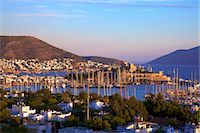 Bodrum Harbour and The Castle of St. Peter, Bodrum, Bodrum Peninsula, Anatolia, Turkey, Asia Minor, Eurasia Stock Photo - Premium Rights-Managednull, Code: 841-07081272