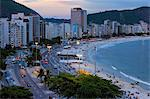 Copacabana at night, Rio de Janeiro, Brazil, South America