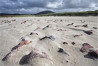 Uig Beach with patterns in the foreground created by wind blowing the sand, Isle of Lewis, Outer Hebrides, Scotland, United Kingdom, Europe Stock Photo - Premium Rights-Managednull, Code: 841-07081842
