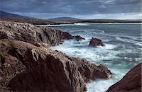 Rugged coastline being pounded by waves on the West coast of Lewis near Mangersta, Isle of Lewis, Outer Hebrides, Scotland, United Kingdom, Europe Stock Photo - Premium Rights-Managednull, Code: 841-07081843