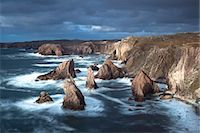 Rugged coastline being pounded by waves on the West coast of Lewis at Mangersta, Isle of Lewis, Outer Hebrides, Scotland, United Kingdom, Europe Stock Photo - Premium Rights-Managednull, Code: 841-07081844