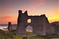 Pennard Castle, Gower, Wales, United Kingdom, Europe Stock Photo - Premium Rights-Managednull, Code: 841-07081955