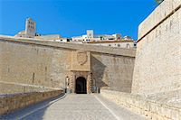 Fortified Ibiza Old Town (Dalt Vila), UNESCO World Heritage Site, Ibiza, Balearic Islands, Spain, Europe Stock Photo - Premium Rights-Managednull, Code: 841-07081979