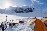 Camp 1, climbing expedition on Mount McKinley, 6194m, Denali National Park, Alaska, United States of America, North America Stock Photo - Premium Rights-Managednull, Code: 841-07082085