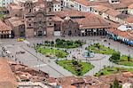 Cuzco cityscape with Plaza de Armas from hill above city, Cuzco, UNESCO World Heritage Site, Peru, South America Stock Photo - Premium Rights-Managed, Artist: Robert Harding Images, Code: 841-07082865