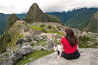 peru and culture - Machu Picchu, UNESCO World Heritage Site, near Ag