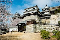 Cherry blossom in the Matsuyama Castle, Shikoku, Japan, Asia Stock Photo - Premium Rights-Managednull, Code: 841-07083653