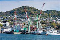 Wharf in the harbour of Nagasaki, Kyushu, Japan, Asia Stock Photo - Premium Rights-Managed, Artist: Robert Harding Images, Code: 841-07083683