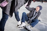 Young couple at ice rink Stock Photo - Premium Royalty-Freenull, Code: 6116-07086579