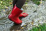 Red boots in the water. Stock Photo - Royalty-Free, Artist: Burazin, Code: 400-07086857