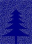 abstract christmas tree from snowflakes on blue background Stock Photo - Royalty-Free, Artist: VladoV, Code: 400-07103466