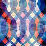 colorful watercolor abstract pattern of different elements