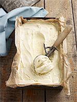 sweet   no people - Overhead View of Tray of Homemade Ice Cream, Studio Shot Stock Photo - Premium Royalty-Freenull, Code: 600-07110442