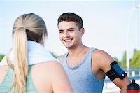 runner (male) - Young Couple Exercising, Worms, Rhineland-Palatinate, Germany Stock Photo - Premium Royalty-Freenull, Code: 600-07110570