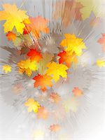 Grunge autumn vector design Stock Photo - Royalty-Freenull, Code: 400-07114153
