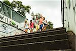 Group of children walking down stairs outdoors, Germany Stock Photo - Premium Royalty-Free, Artist: Uwe Umstätter, Code: 600-07117160